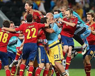 الضربات الترجيحية في مباراة اسبانيا والبرتغال 4-2 في بطولة اليورو 27-6-2012