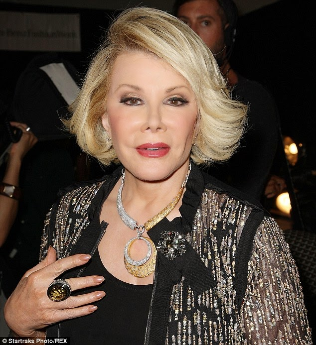 Fashion Police anchor, Joan Rivers now on life support
