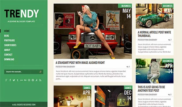 Share Trendy Responsive template