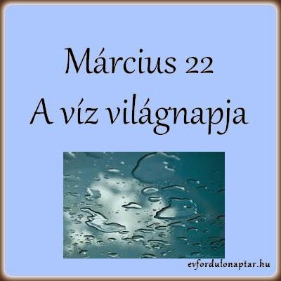 Március 22 - A víz világnapja