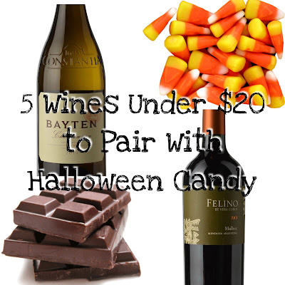 Wine and Halloween Candy