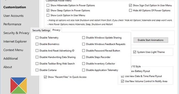 windows tweaker 4.0