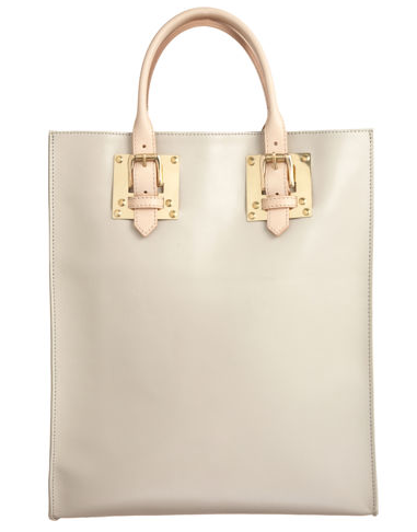 Sophie Hulme Colorblock Buckle Tote