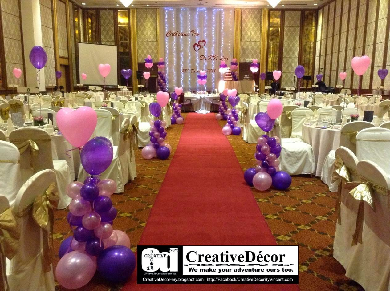 Creatived cor by vincent balloon decoration chinese for Balloon decoration for wedding