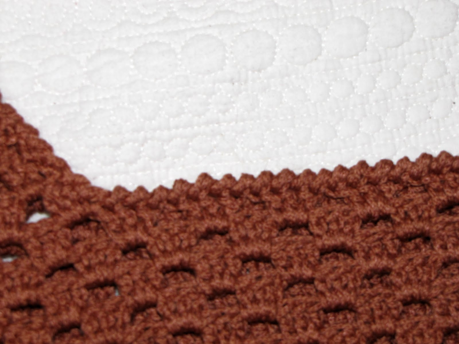 Reverse single crochet edging