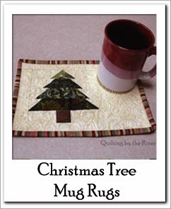 Christmas Tree Mug Rug Free Tutorial at Freemotion by the River