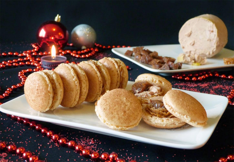 Macarons au Pain d'épices, Foie Gras et Figues - Une Graine d'Idée