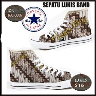 "sepatu lukis ""batik"" MCR  ( hand painting shoes ""batik""MCR  ) by B&W"