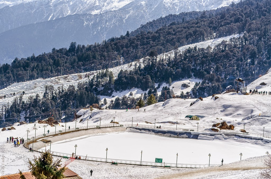 artificial lake in auli, budgetyatri