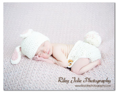 Bunny hat & Diaper cover crochet pdf