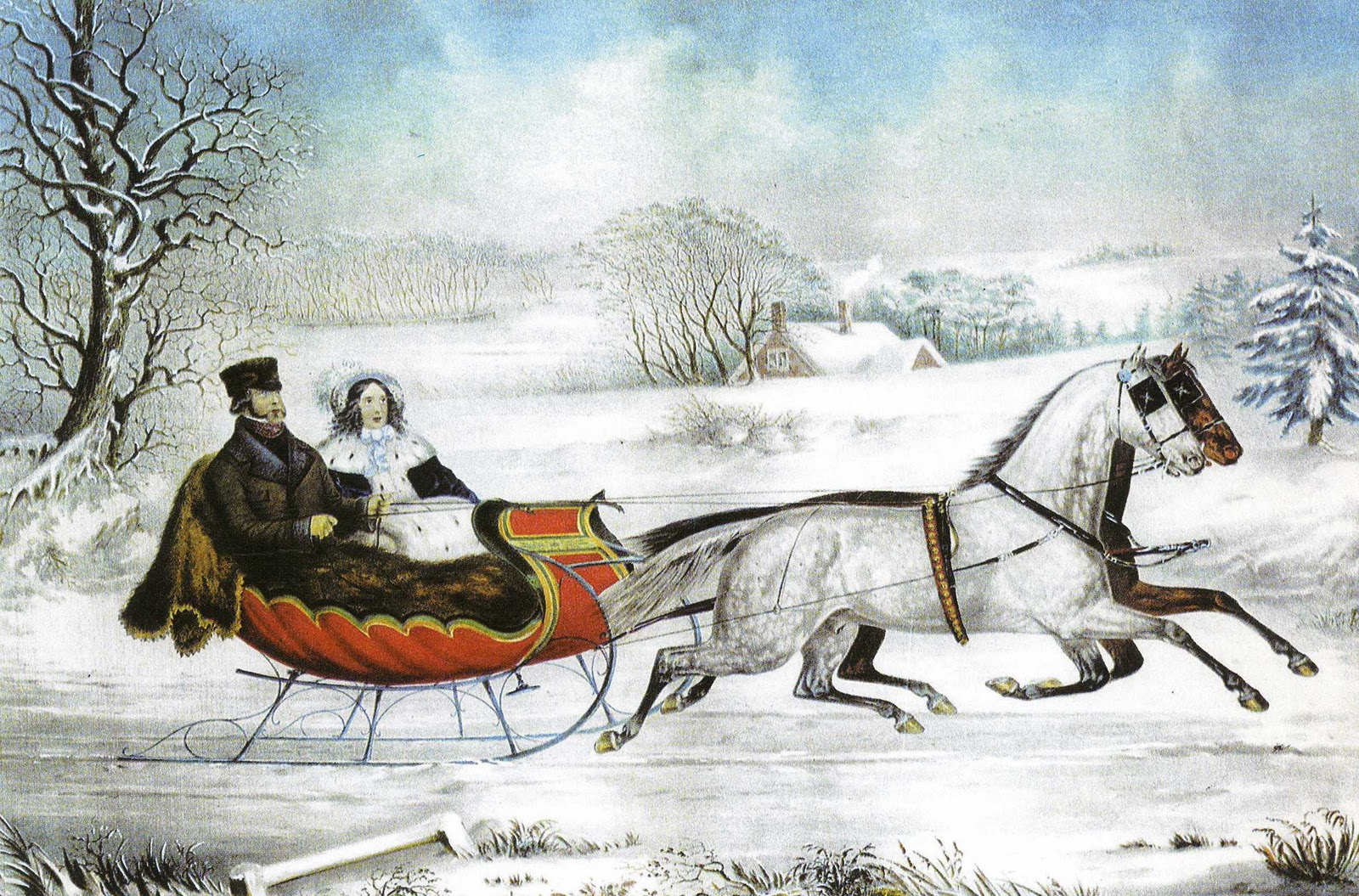 My Paisley World Currier Ives Winter Scenes