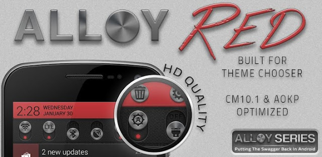 Alloy Red Theme CM10.1 v1.0 APK