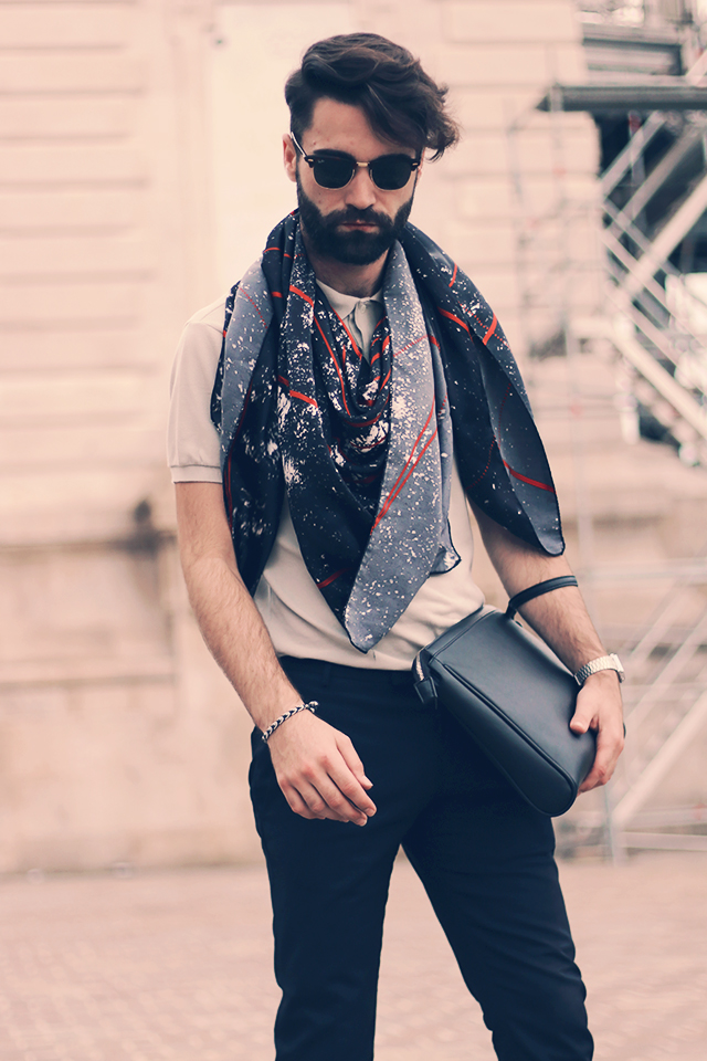 smira fashion, fashion men, paris fashion week, pfw, hermes, men, model, swiss blog, rayban, levis, prism, men scarf, fashion week,
