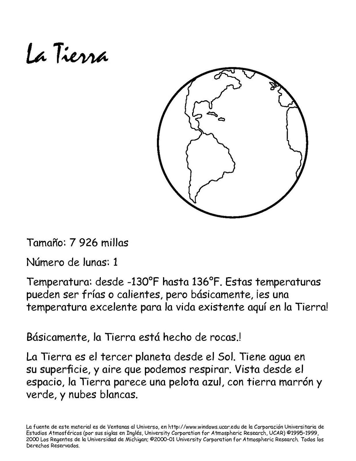 Único Planeta Para Colorear Páginas Con Los 9 Planetas Ideas - Ideas ...