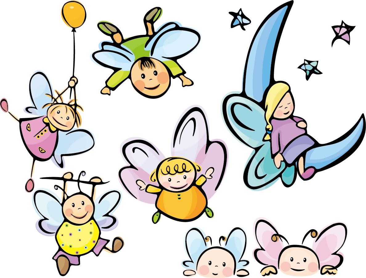 可愛い天使の漫画 cartoon cute angel vector イラスト素材3
