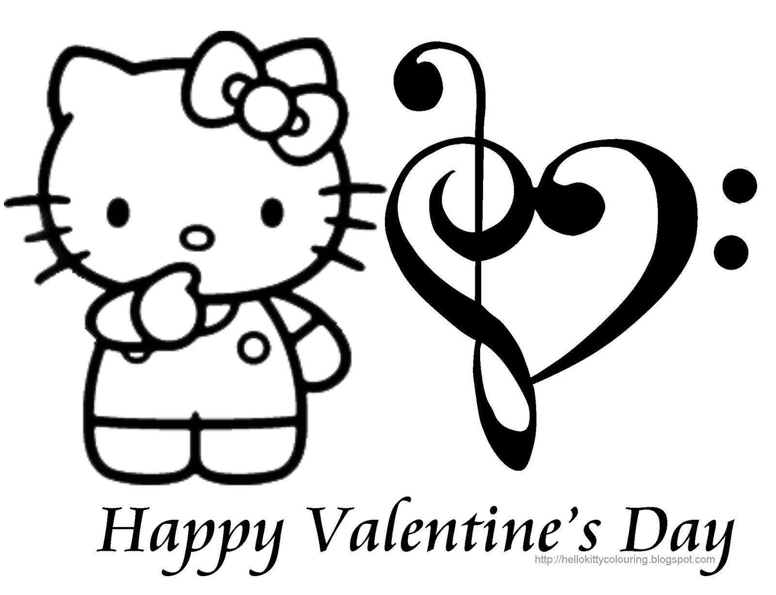 hello kitty valentines coloring pages - photo#2