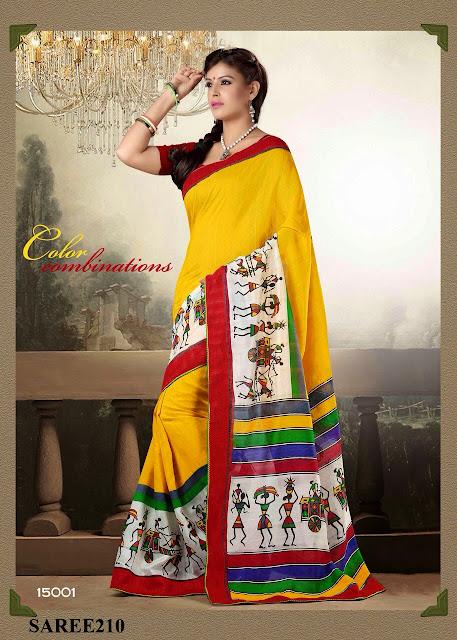 Buy Indian Cotton Base Printed Saree – Manufacturer