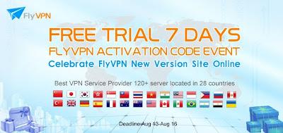 Comment obtenir FlyVPN 7 jours code d'activation gratuite