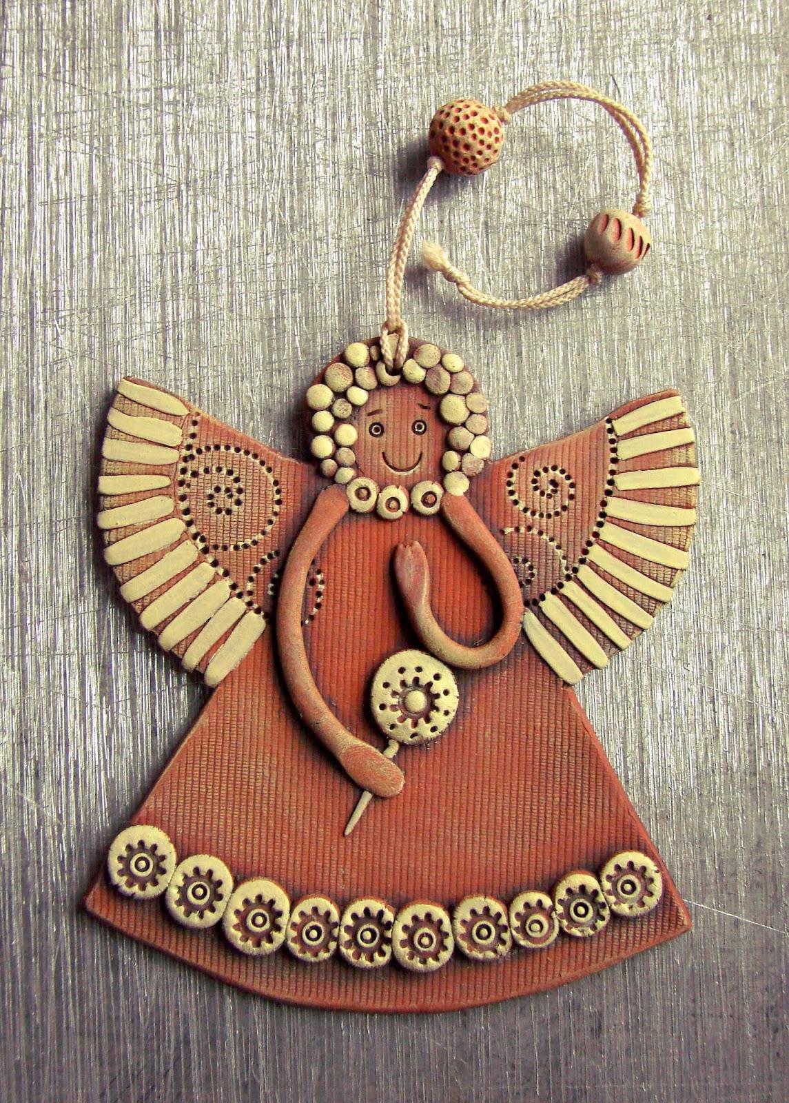 Ангел из полимерной глины своими руками мастер класс