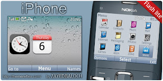 iPhone C3 theme by ZayedBaloch Download Tema Nokia C3 Gratis