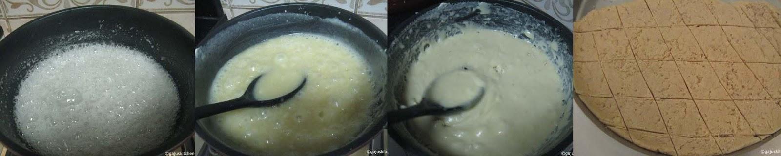 Badam cake preparation
