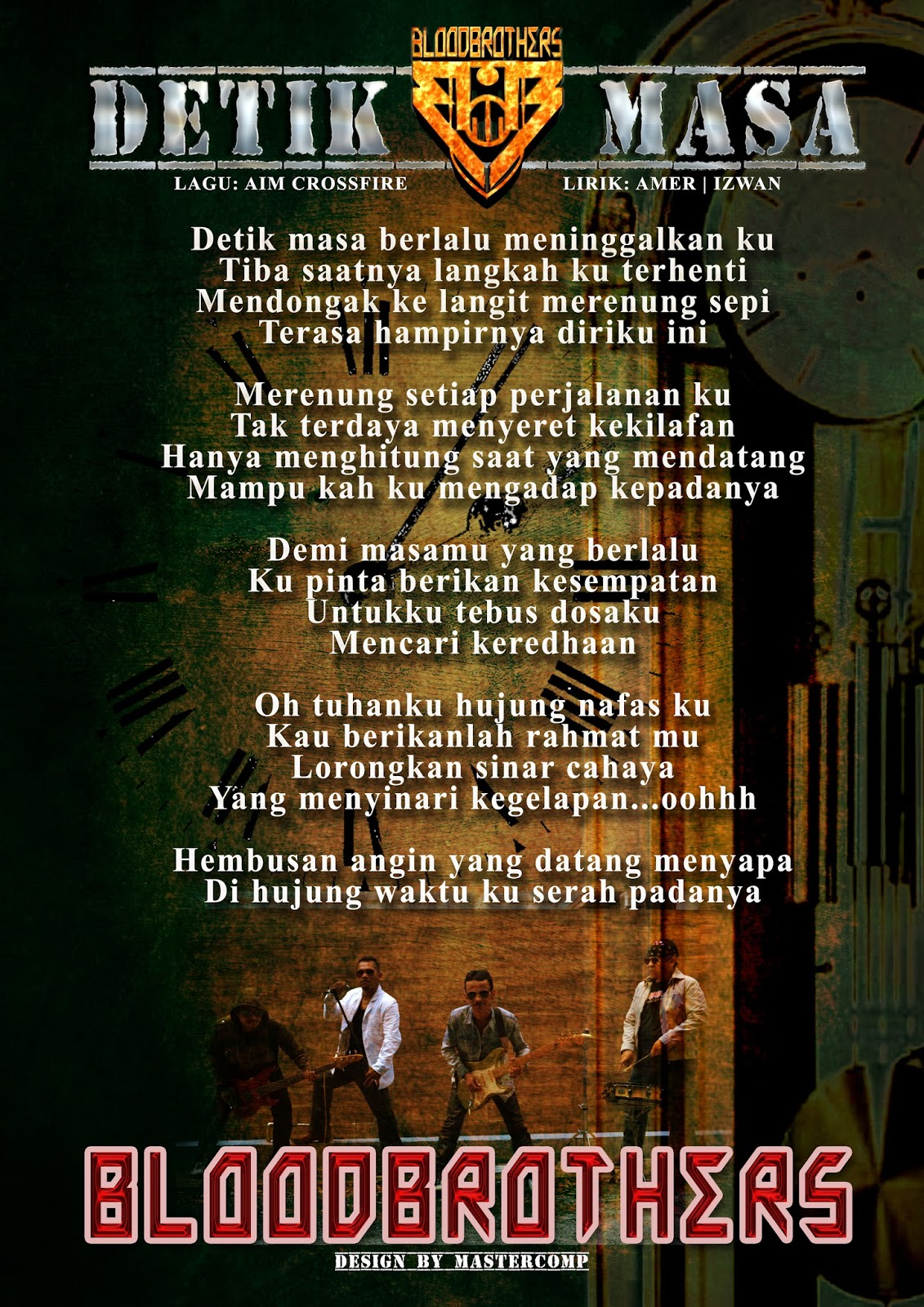 Lirik Bloodbrothers - Detik Masa