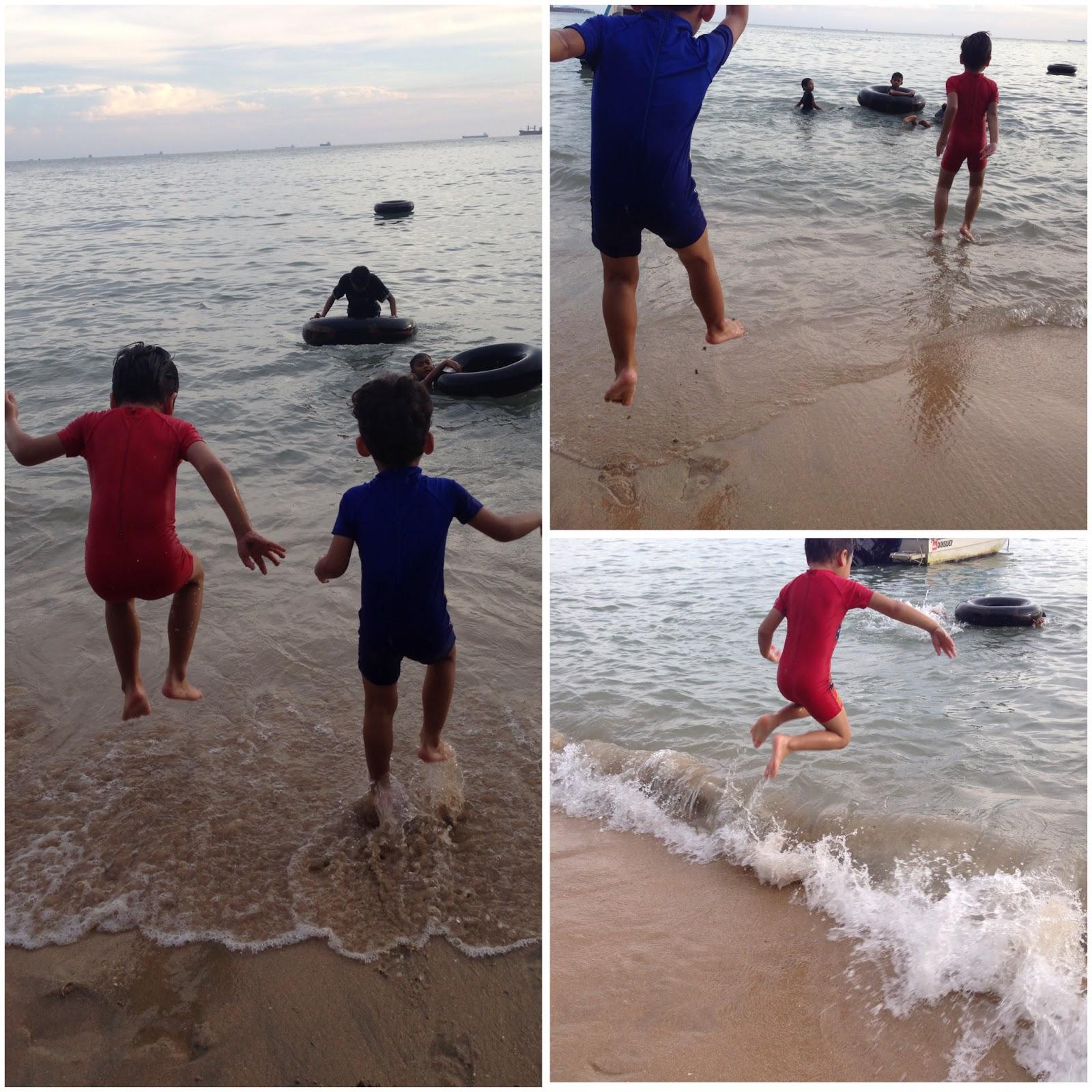 Reasons To Smile June 2015 Tendencies Kaos Beach Life Perak M And Then We Went Teluk Batik Hang Out By The Note Kazim Didnt Dip Himself In Water He Just Played Kat