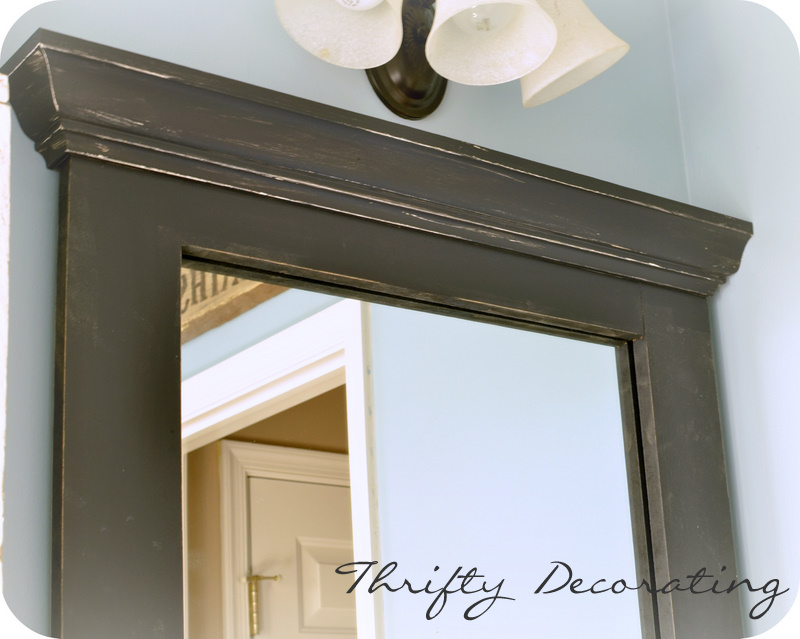 Thrifty Decorating Frame Your Bathroom Mirror