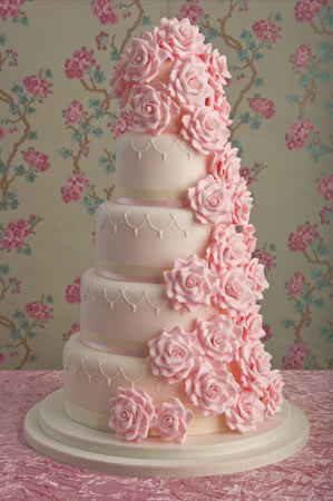 Graceful Pink Wedding Cake, Wedding Cakes, Pink Wedding Solution, Wedding Pink Solution, Pink Wedding ideas, pink wedding cakes, pink wedding cake, pink rose wedding cakes, great wedding cakes, cute wedding cakes, romantic wedding cakes