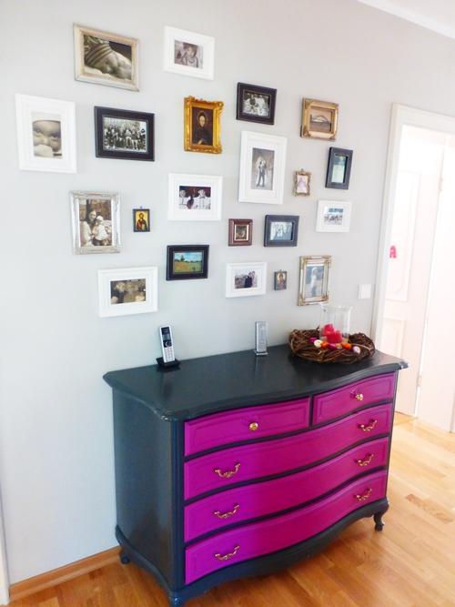 Kommode Vintage Farbe bunt Bildergalerie Gallery Wall