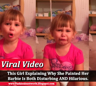 This Girl Explaining Why She Painted Her Barbie Is Both Disturbing And Hilarious