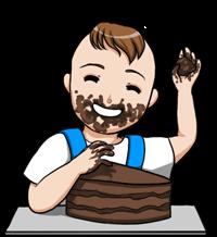 bébé mangeant du chocolat