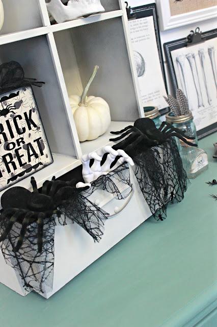 "Vintage Inspired ""Spooky Lab"" Halloween Vignette"