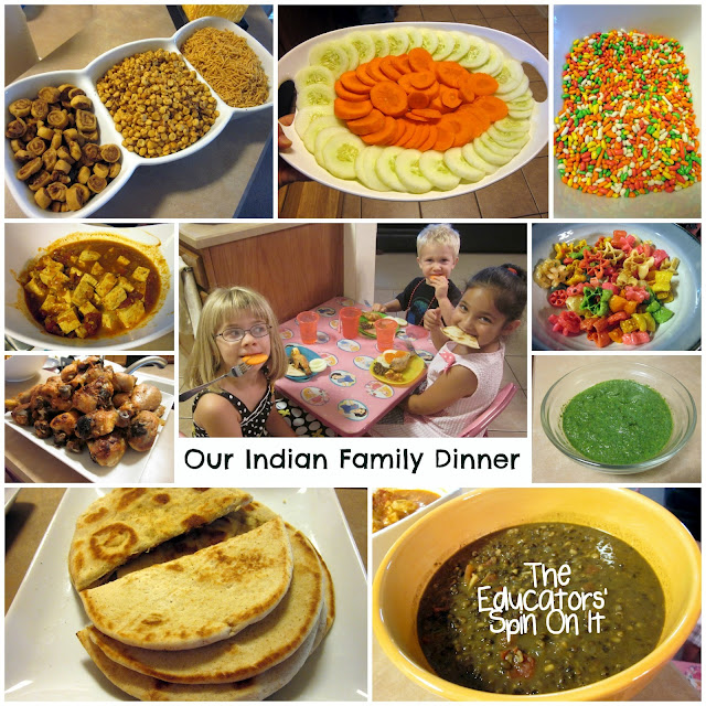Indian Recipes for Kids to make as they learn about the world with food.