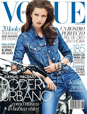 Polish model Kasia Struss sexy Denim girl for Vogue Mexico August 2012