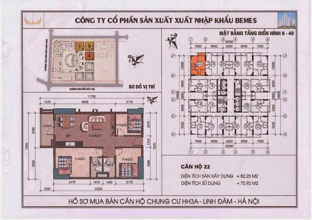 Căn hộ 22 - Chung Cư HH3A Linh Đàm