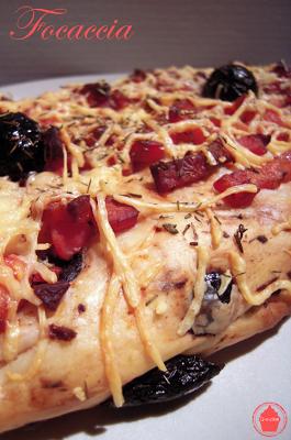 focaccia lardons jambon