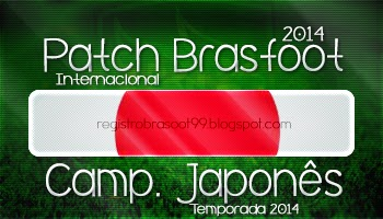 Patch Brasfoot 2014   Campeonato Japon  S   Jap  O
