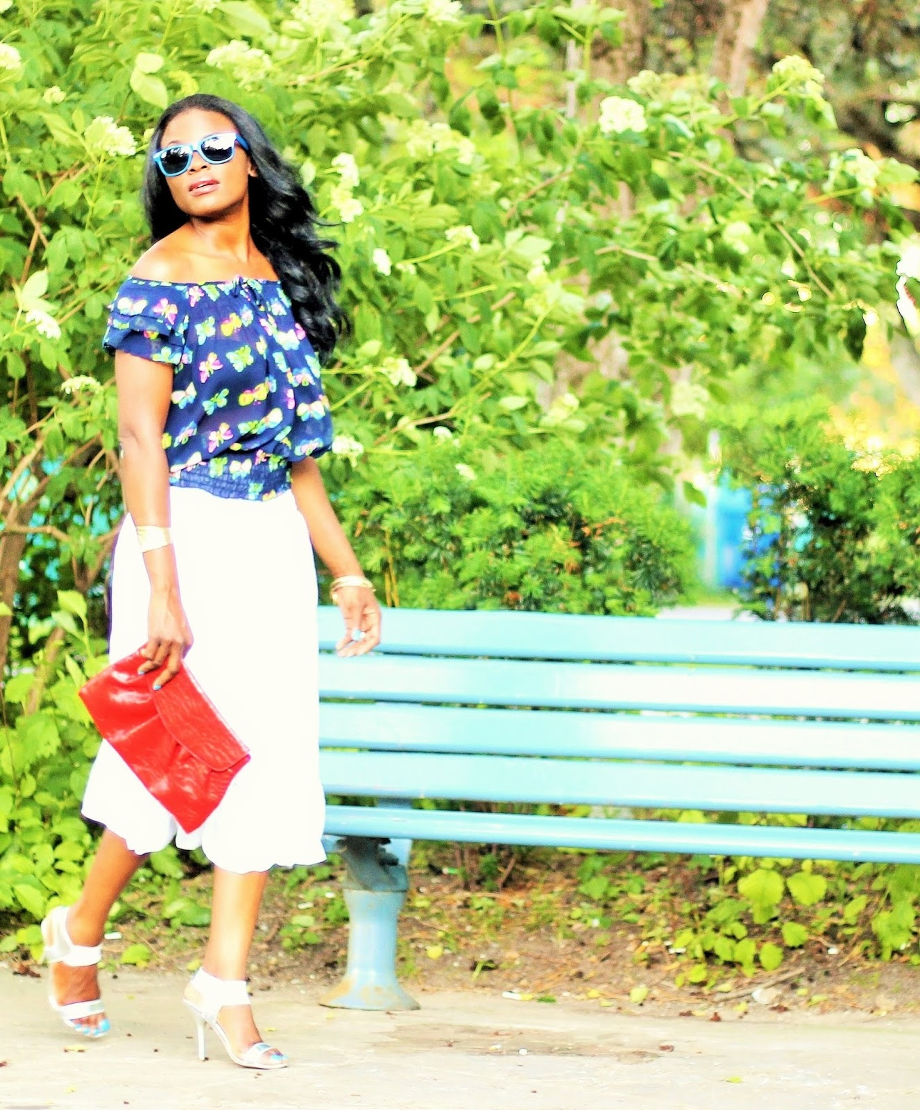 Gypsy Chic: Wearing a little white dress as a midi skirt