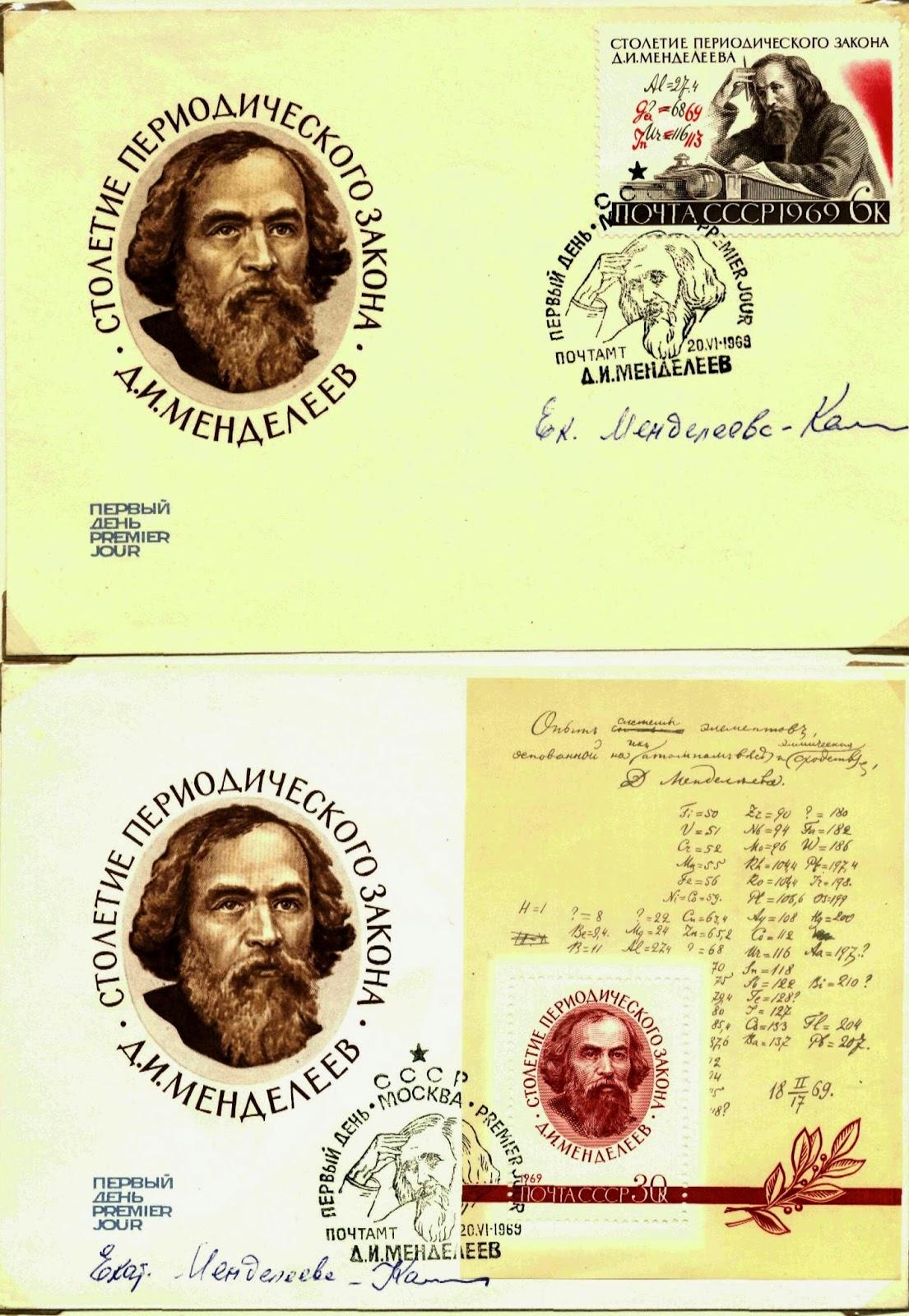 Рис. 114. Конверты с автографом внучки Д.И.Менделеева