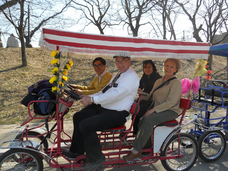 Fun on a bicycle built for four.