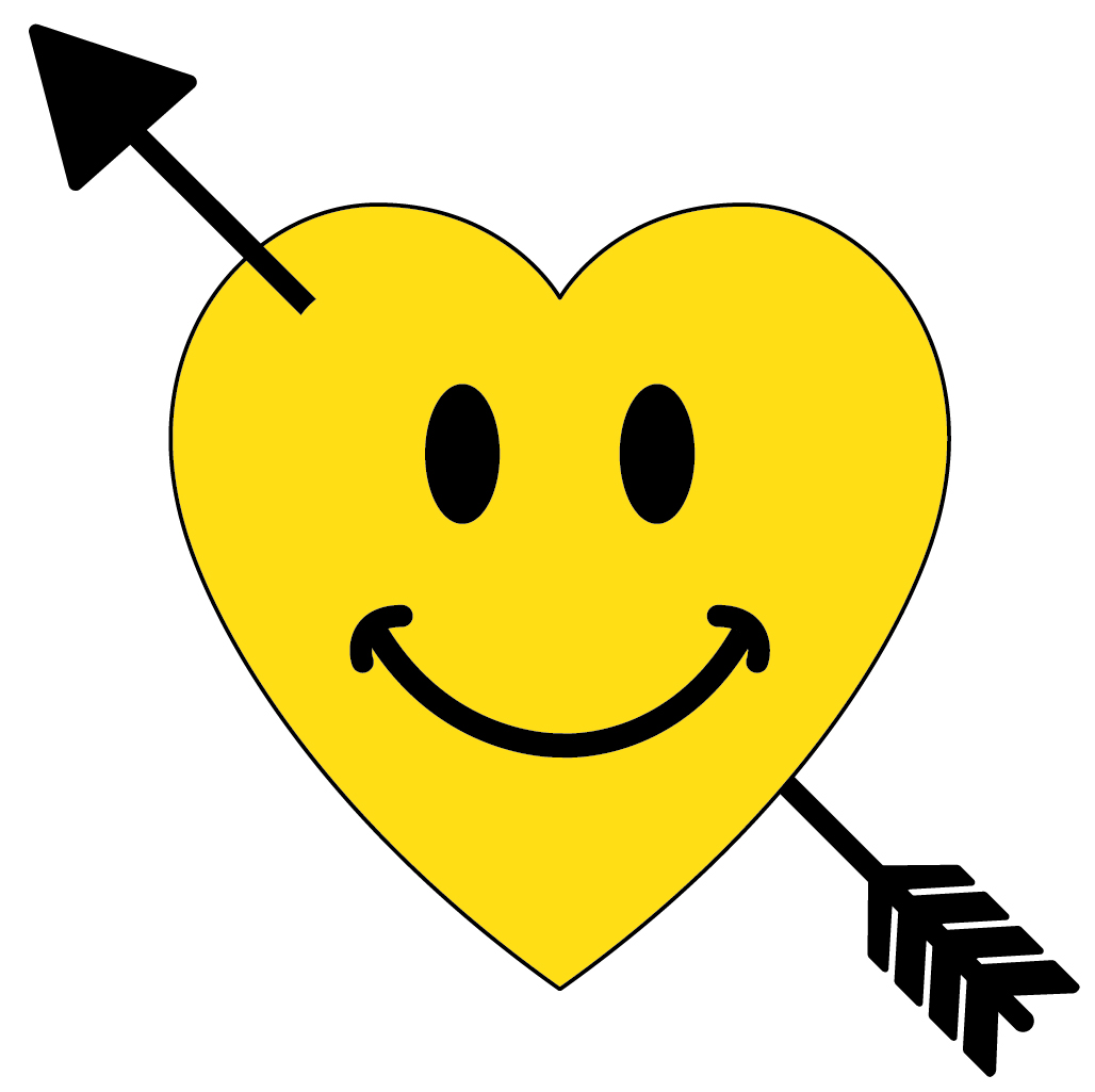 Susans school daze smiley face symbols smiley face valentine heart shot with cupids arrow biocorpaavc Images