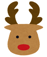 クリスマスのマーク「トナカイ」
