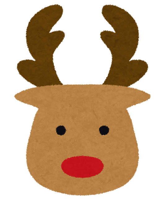 イラスト お正月 イラスト 簡単 : クリスマスのマーク「トナカイ ...