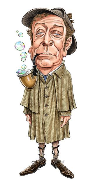 Michael Caine as Reginald Kincaid, aka Sherlock Holmes