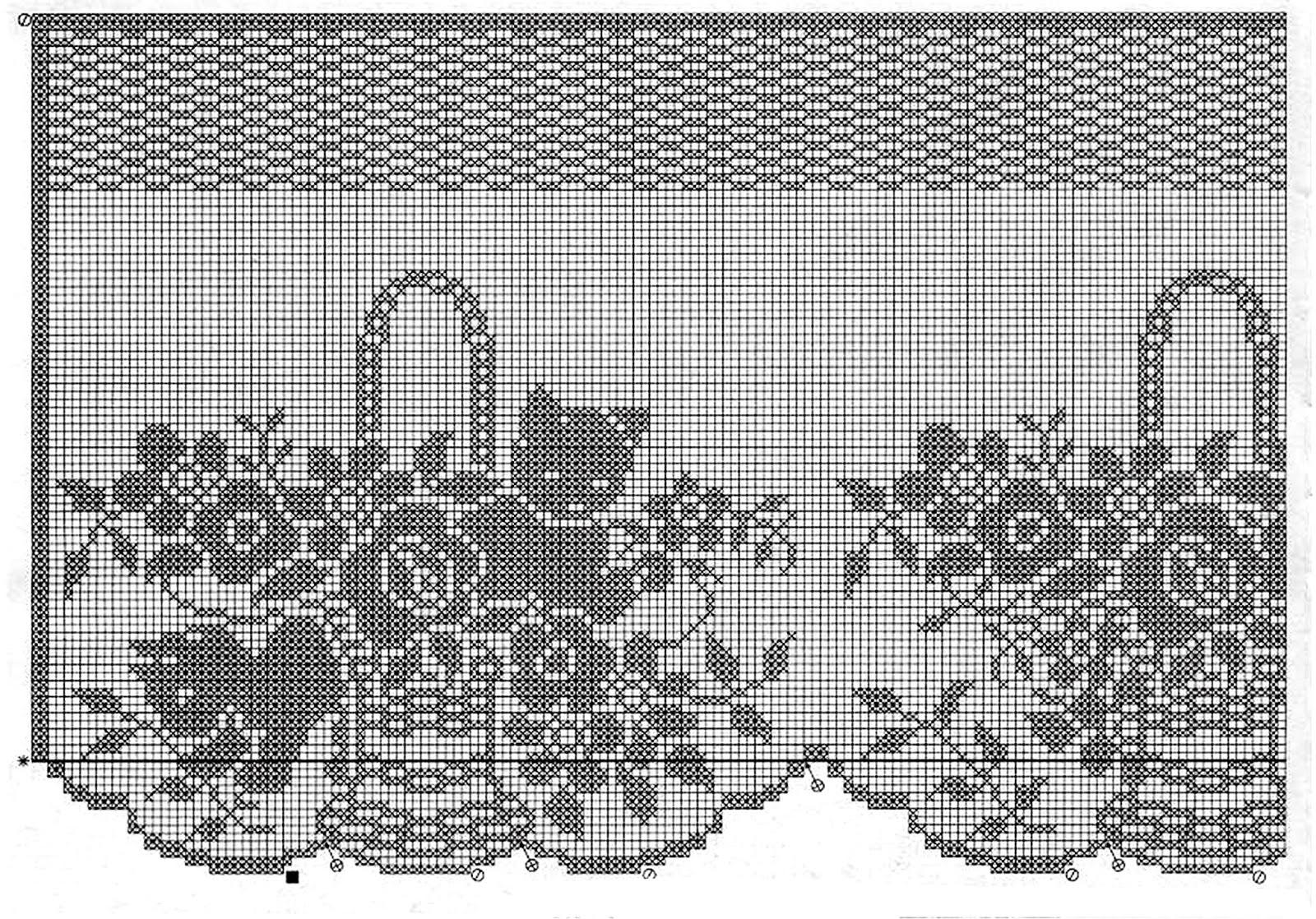 Филейное вязание для картин 709
