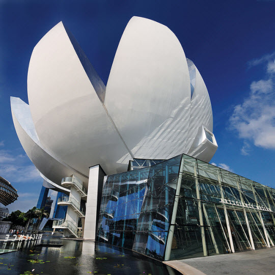 Moshe Safdie Architect, Lotus Flower ArtScience Museum, Singapore 