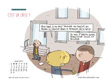 Fonds d'écran du mois d'avril 2013, avec et sans calendrier (éditions Des ronds dans l'O)