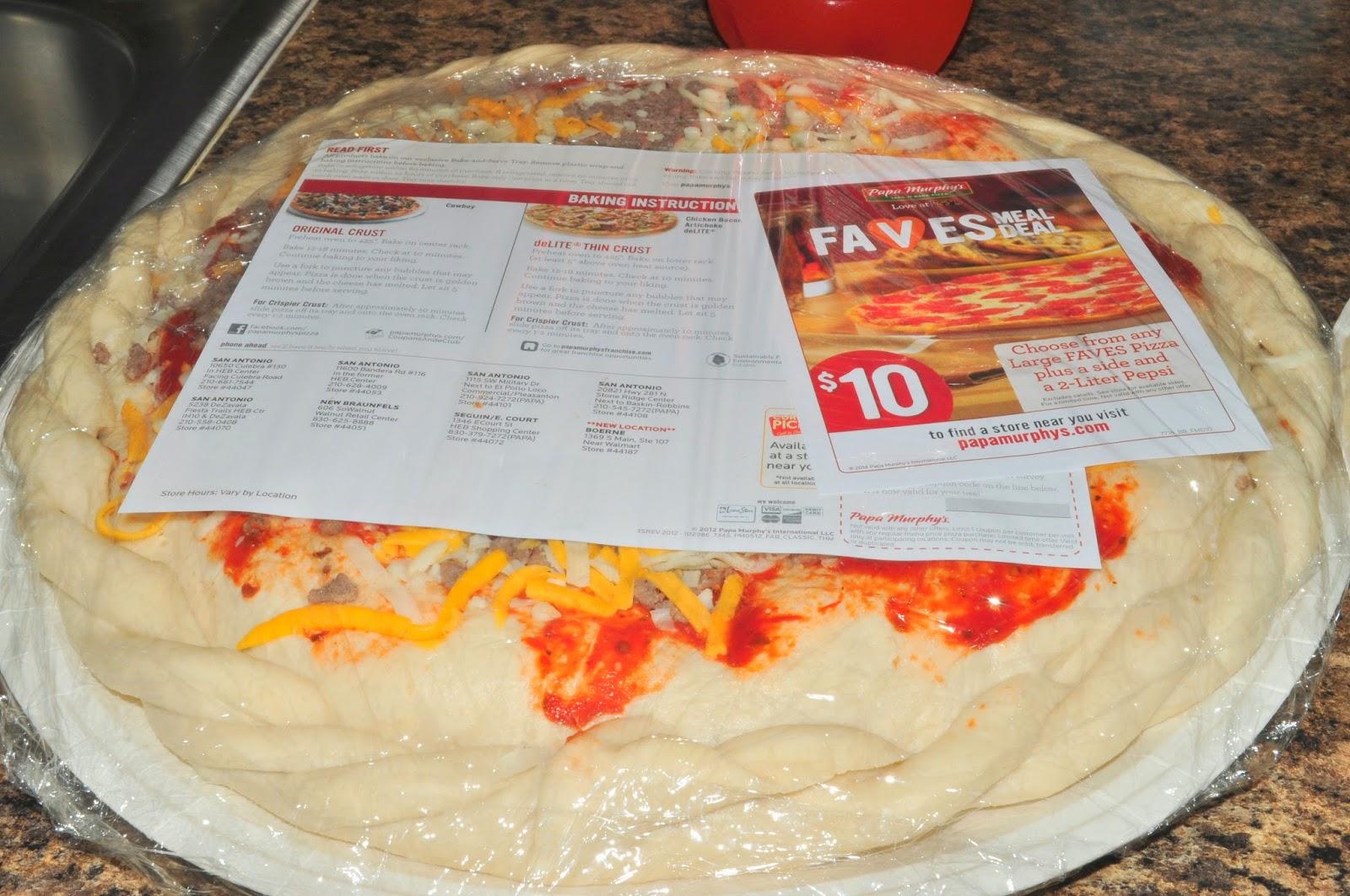 costco pizza baking instructions