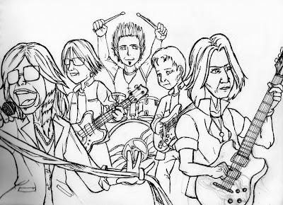 Desenho do Aerosmith